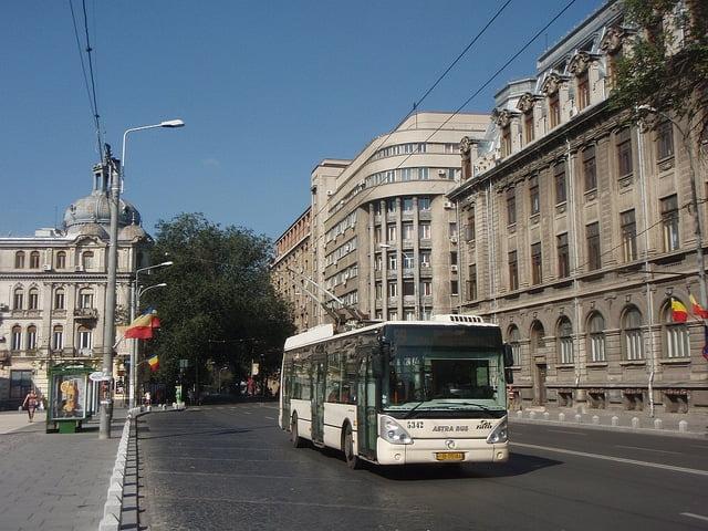 bus bucharest romania