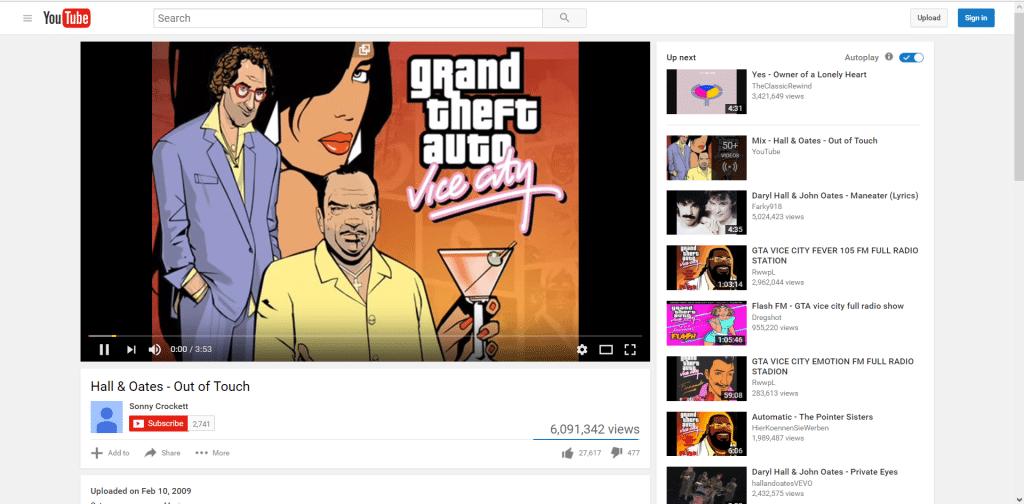youtube on background