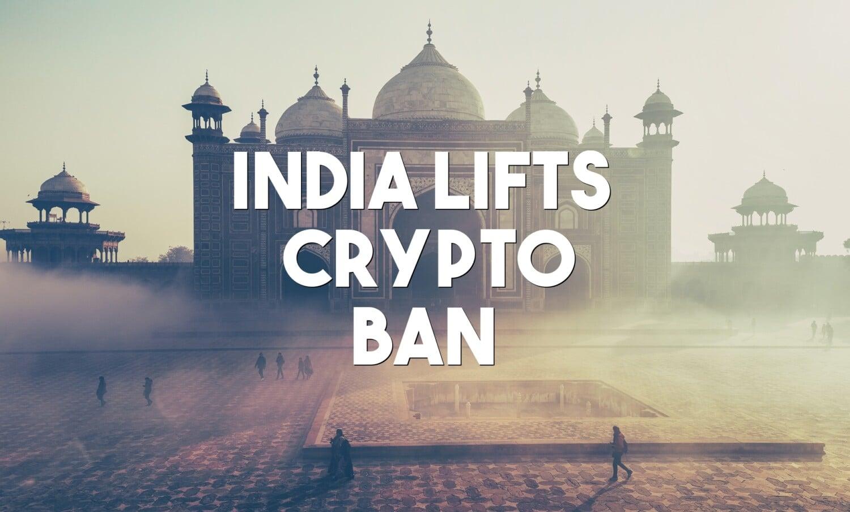 india lifts crypto ban